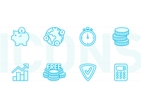 Valuto - icons design for website