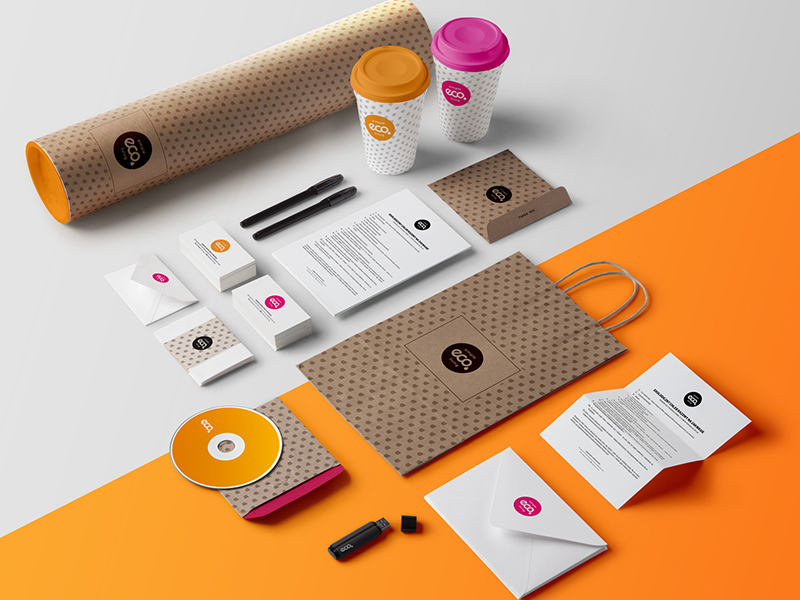 Visual identity for simpleECOliving color eco branding brand bussinesscard identity ci design logo