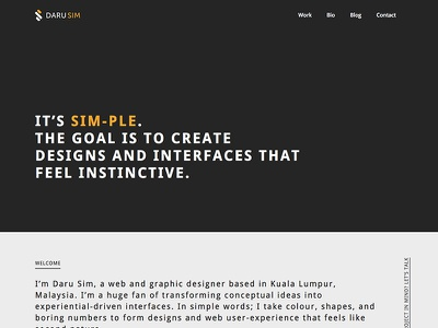 New Personal Portfolio Website personal portfolio website design responsive black dark gold