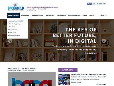 Baca Website web design website blue purple landing page mock up