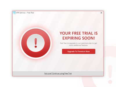 Free Trial is Expiring Soon! (Windows) warning upgrade premium free trial renew expiring expired alert