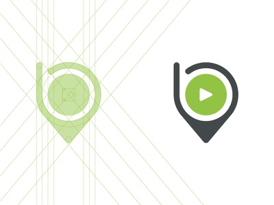 Bookya Logo line dark grey green b pin location play entertainment logo bookya