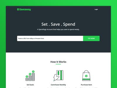 Saveaway (Beta) Landing Page