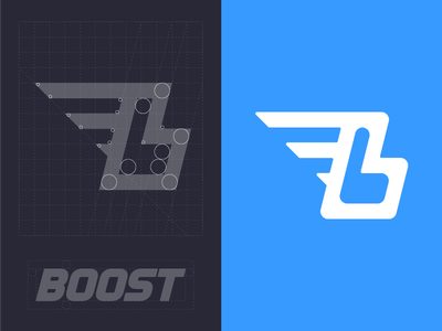 Boost Logo b boost icon design identity construction grid branding logo