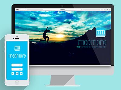 Medmore desktop & App app-icon app logo-design logo interfase-design user-interfase ui