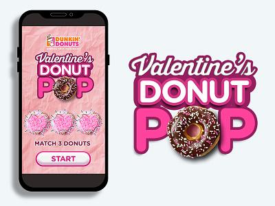DD Valentine's Donut POP ui ux games