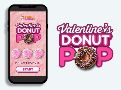 DD Valentine's Donut POP