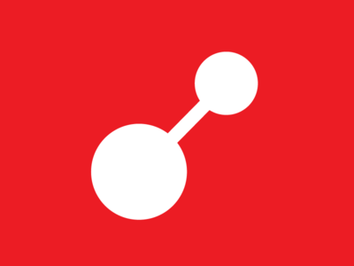 RedLINES App icon connection simple networking circles red logo icon app