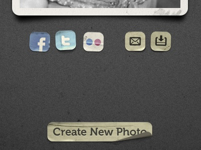 OldBooth for iPad, gallery/start screen oldbooth vintage bord sticker sharing