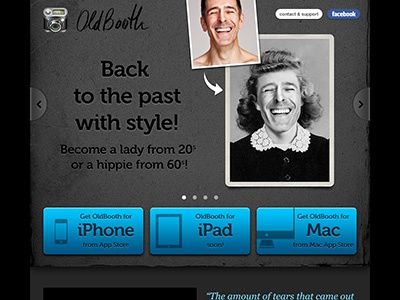 New OldBooth website. www.oldbooth.com oldbooth website iphone ipad mac app appstore getapp
