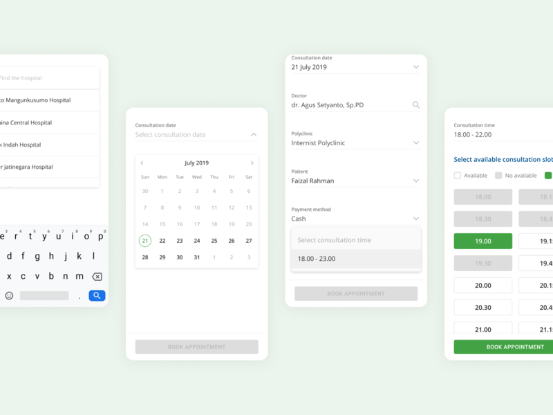 Doctor Appointment Form first shot ux ui mobile appointment booking patient doctor hospital app medical healthcare