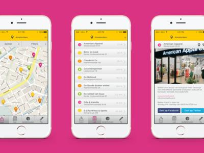 Eerlijk Winkelen - Smartphone App web sketch design ux ui app
