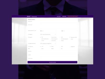 BMC Vacancy Portal - Web Application website webapp ux ui design app