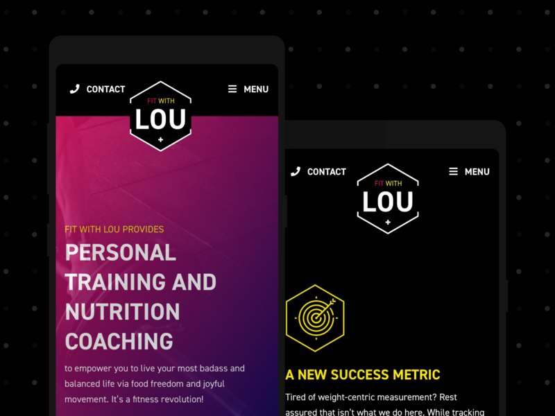 Fit With Lou branding design brand identity brand design branding brand custom wordpress website wordpress responsive website responsive design responsive website design web design webdesign website