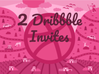 2 Dribbble Invites Giveaway
