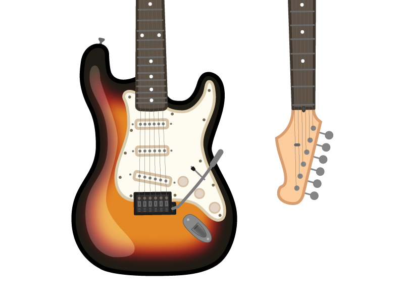 Fender Stratocaster Electric Guitar Illustration By Tamara Stantic