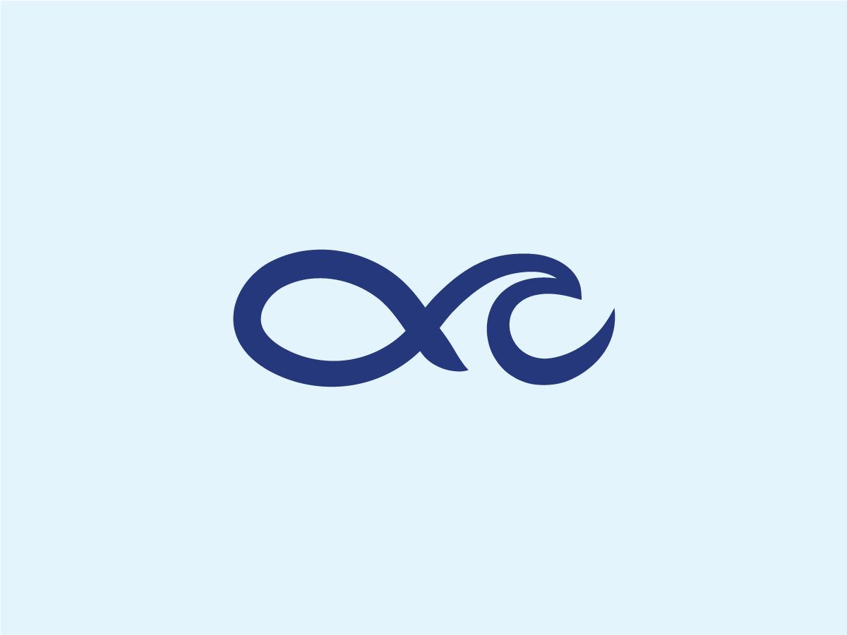 Fish + Wave Logo animal branding identity logo restaurant food fishing ocean swimming aquarium stroke marine sea water wave fish