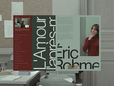 L'Amour l'après-midi films concept web design layout website typogaphy web design ux ui