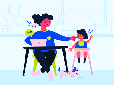 Happy Mother's Day! mothersday bright neon green blue babypink mothers day pandemic 2020 moms mess toddler baby kid working mom working from home wfh corona mom mother