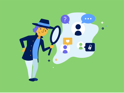 Contextual Advertising clue search magnifying glass magnify glass detective blog graphic blog cover marketing advertising advertise inspect inspector sherlock