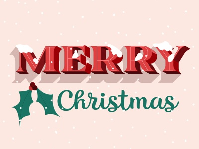 Merry Christmas lettering typogaphy illustration snow noel merrychristmas christmas