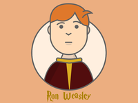 Ron Weasley - Flat Illustration Design