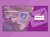 Internet Banking - Landing Page