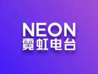 Neon Radio Typographic