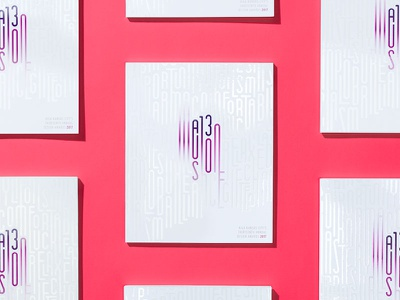 AIGA A13 Illusion Gala Book spot gloss publication design pub design gala design publication printing style gloss type typography illusion kansas city aiga