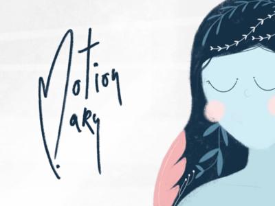 Motionmary illustration flowers girl
