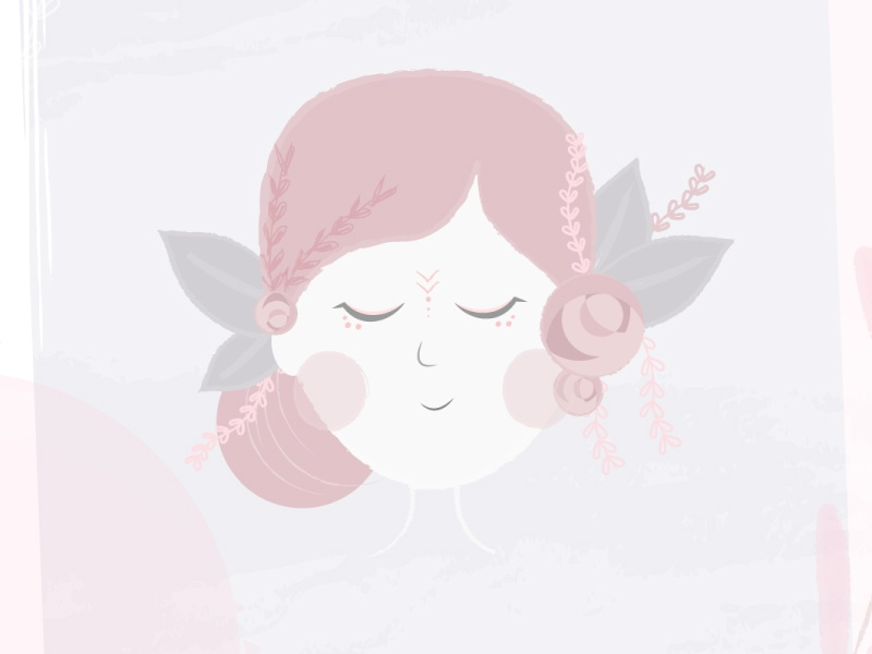 Happiness blooms from within. bloom meditate peace mind illustration animation flower girl