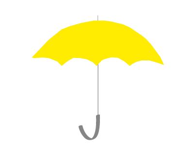 Sunny Side Umbrella illustration logo