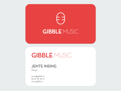 Gibble Logo logo business card music brand design flat cards business