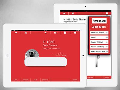 Design Handles iPad App app architecture clean design design handles forniture ipad red