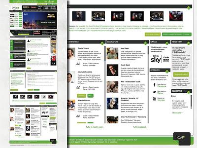 Website of a poker TV channel footer website poker green