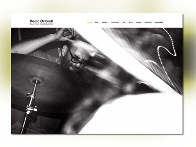 Drummer & Teacher - One page site minimal personal site one page teaching drums music