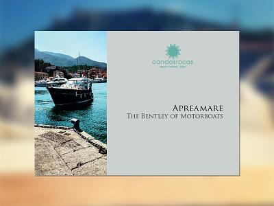 Yacht brochure sea summer rent luxury boat yacht brochure