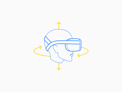 Oculus Quest Head Rotation nucleusicons technique vr virtual reality icon aucta illustration minimalistic face technical oculus quest oculus rift oculus