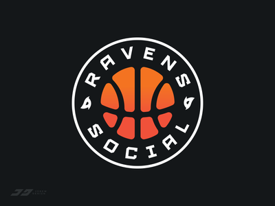 Sydney Ravens Social Basketball Team basketball illustration badge emblem branding brand sports logo