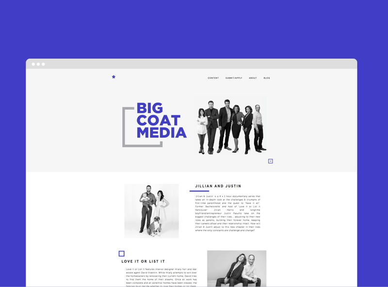 Big Coat Media Website