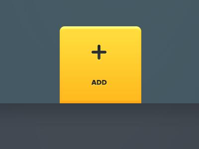 Active Navigation Item web web app ui yellow button add nav navigation