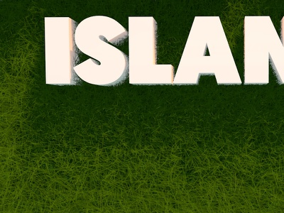 3D Island Render island green grass render logo graphic graphic design 3d