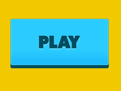 Play Button yellow blue video game videogame game play ui