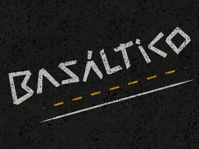 Basáltico logo logo design graphic design design
