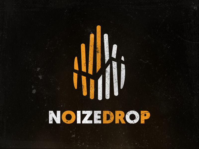 NoizeDrop noise drop dubstep design graphic design logo music
