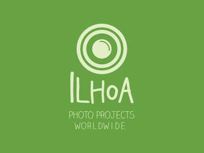 Ilhoa - Photo Projects Worldwide camera green logo logo design graphic design design photography