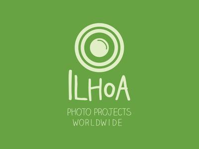 Ilhoa - Photo Projects Worldwide camera green logo logo design graphic design design photography