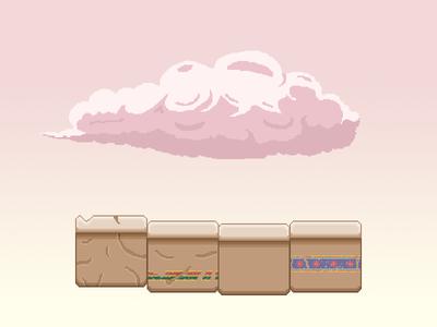 Learning Some Pixel Art! graphic design video game egypt platform cloud pixels pixelart pixel art