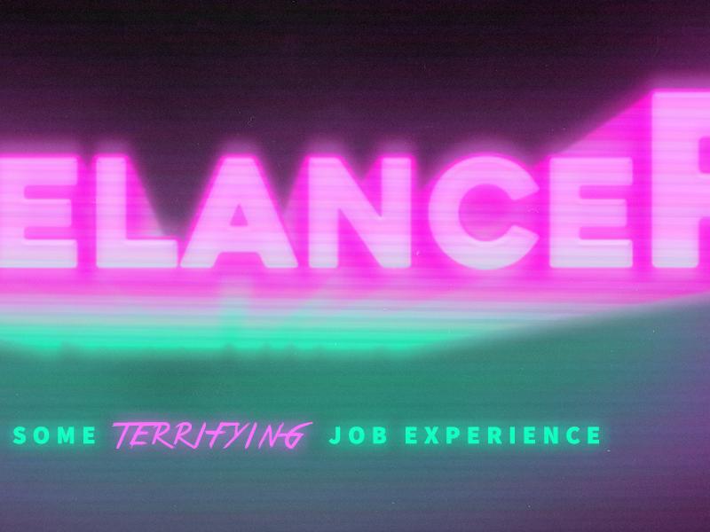 Freelancer - He's got some TERRIFYING job experience freelancer short film film movie design graphic design branding brand logo