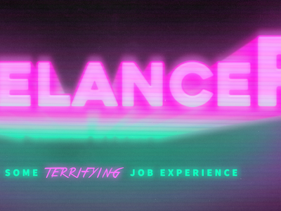 Freelancer - He's got some TERRIFYING job experience freelancer short film film movie design graphic design branding brand logo